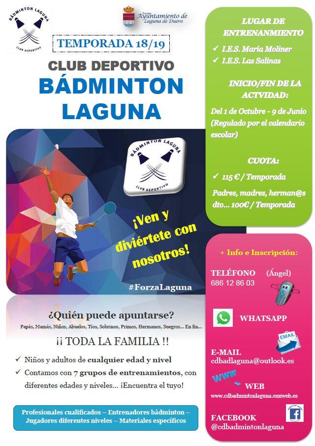 Cartel promocion c d badminton laguna