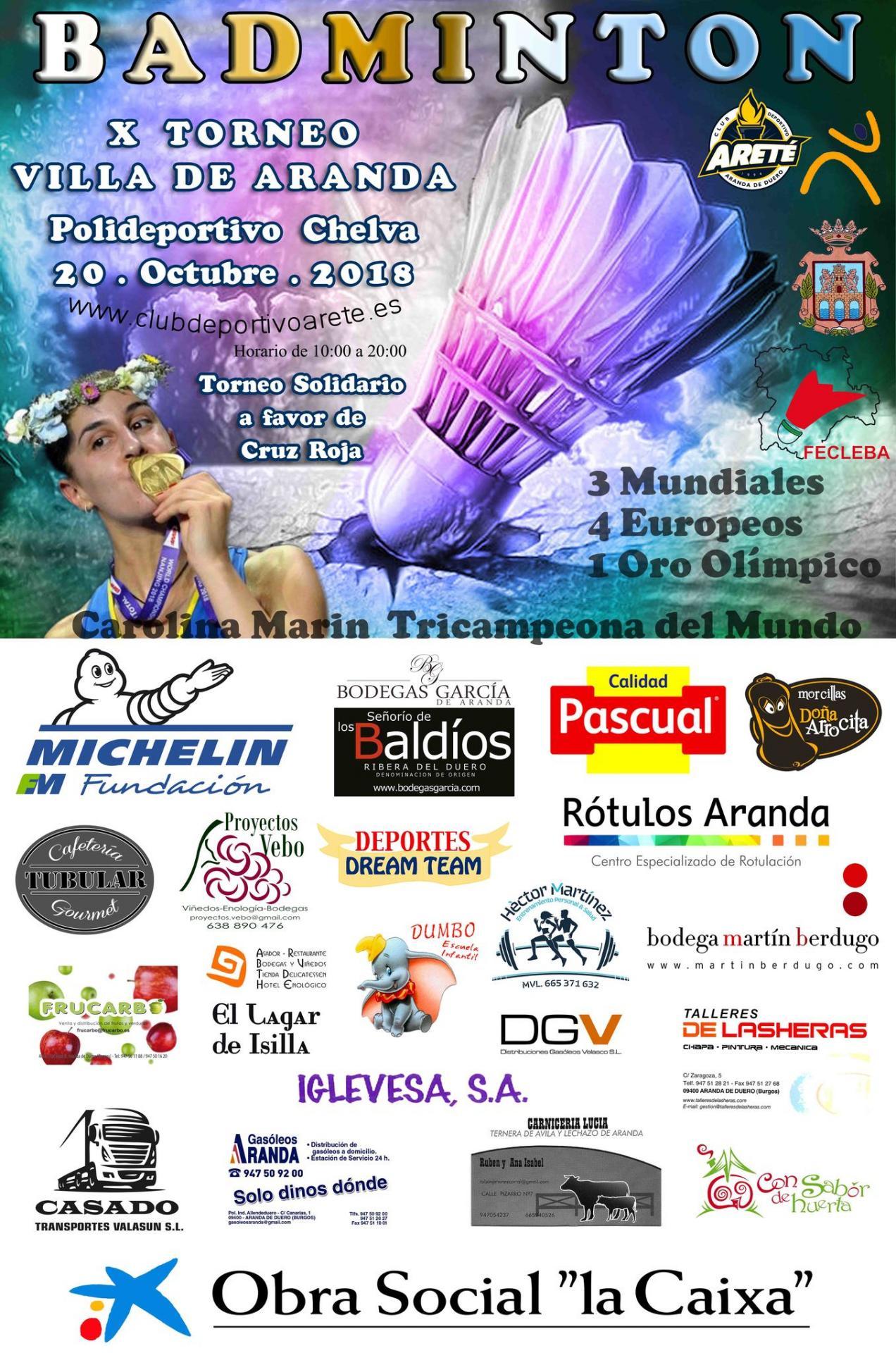 Cd arete cartel x torneo de badminton villa aranda 2018 2