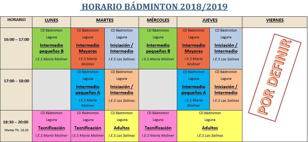 Horario badminton 18 19 final 1
