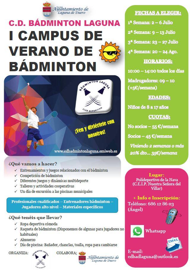 I campus de verano c d badminton laguna