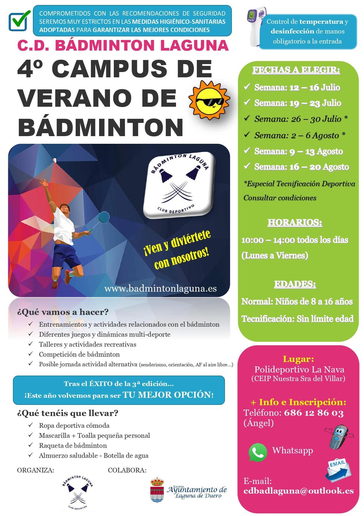 4 campus de verano c d badminton laguna final