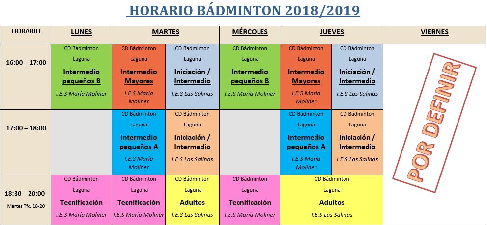 Horario badminton 18 19 final 1