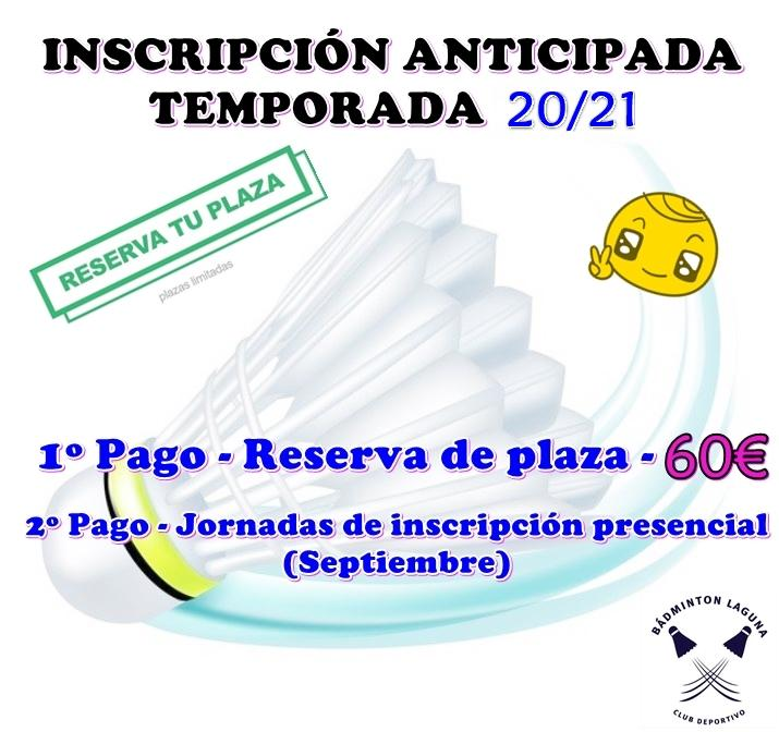 Inscripcion anticipada 20 21